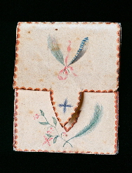 Rare School girl puzzle purse enclosing The Lord's Prayer in micro calligraphy, American, Probably New England, circa 1830-1850
